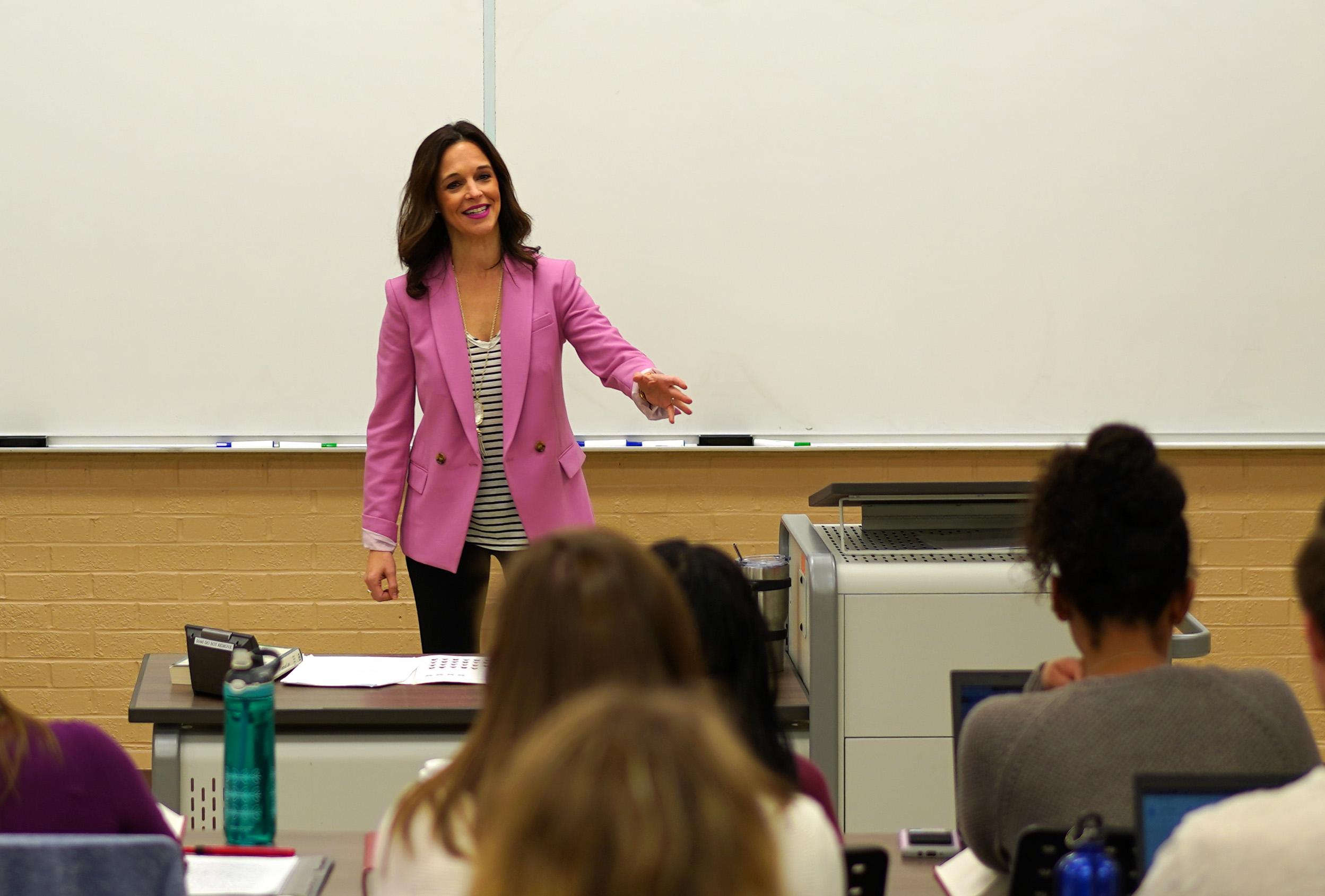 Kathleen Thomas teaching