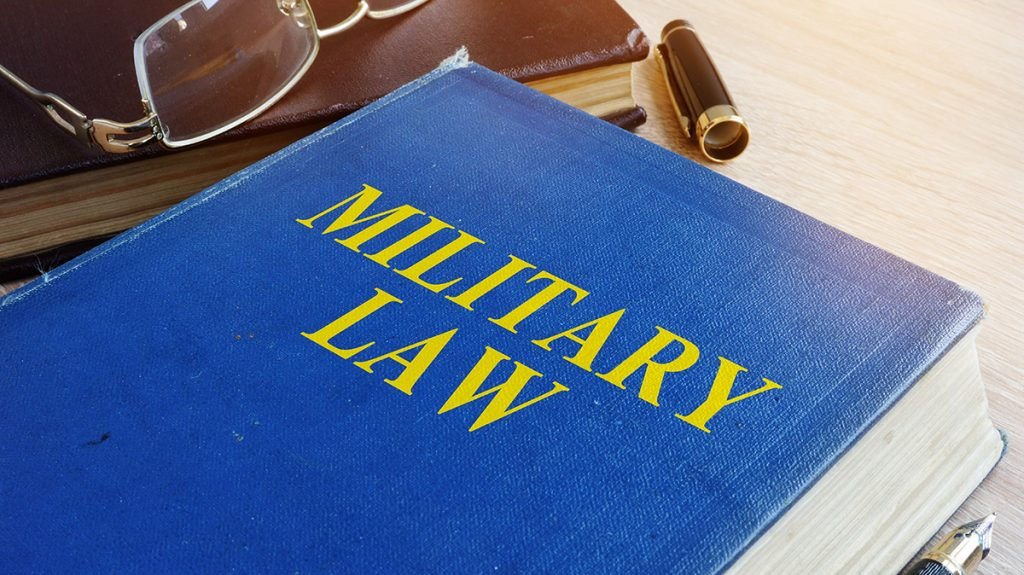 Military Law book